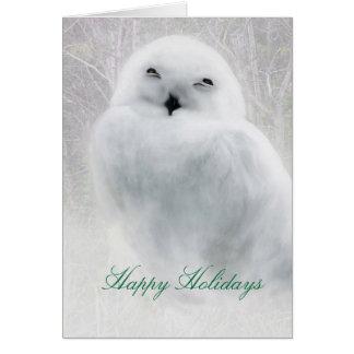 Happy Holidays .. Snowy Owl greeting card