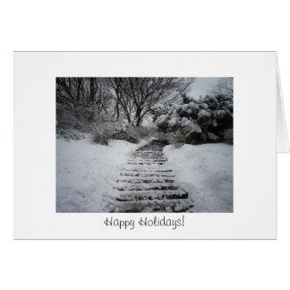 Happy Holidays - Snowy Path Greeting Card