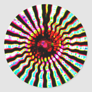 Happy Holidays Sparkle Energy Art Classic Round Sticker