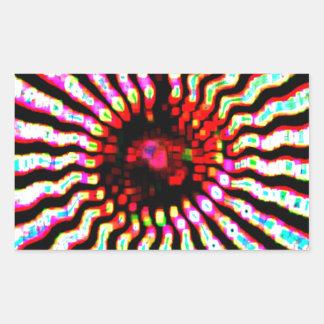Happy Holidays Sparkle Energy Art Rectangular Sticker