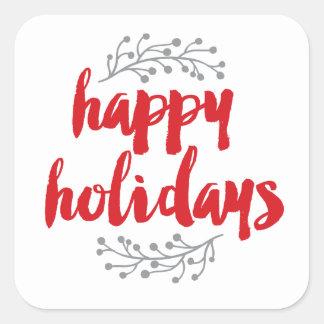 Happy Holidays Square Sticker