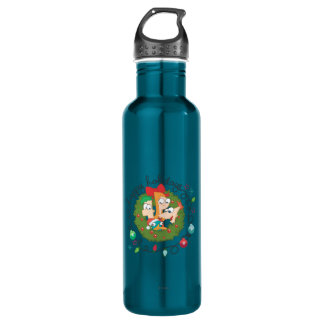 Happy Holidays Stainless Steel Water Bottle