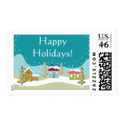 Happy Holidays stamps stamp