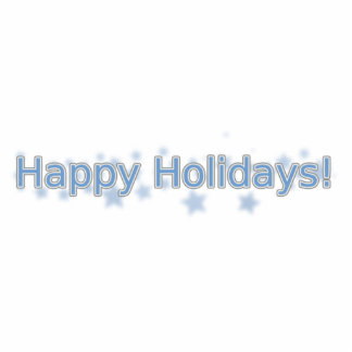 Happy Holidays Standing Photo Sculpture