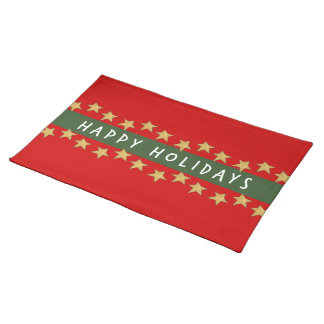 Happy Holidays Star Placemat