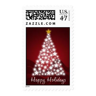 Happy Holidays Starry Tree - Postage