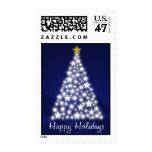 Happy Holidays Starry Tree - Postage