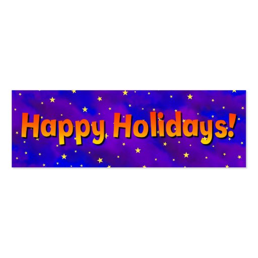 happy holidays business card template zazzle