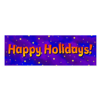 Happy Holidays Stars Double-Sided Mini Business Cards (Pack Of 20)