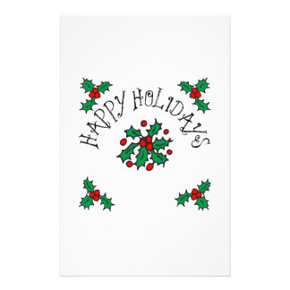 Happy Holidays Stationery Paper