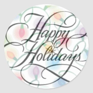 Happy Holidays Sticker sticker