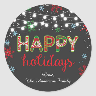 Happy Holidays Sticker / Ugly Sweater Sticker