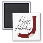 Happy Holidays Stocking Magnet