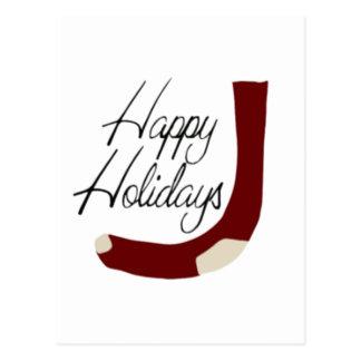 Happy Holidays Stocking Post Card