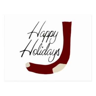 Happy Holidays Stocking Post Cards