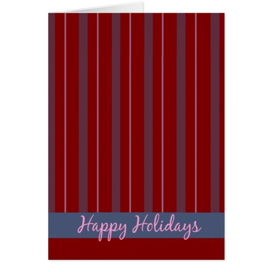 Happy Holidays Striped Card