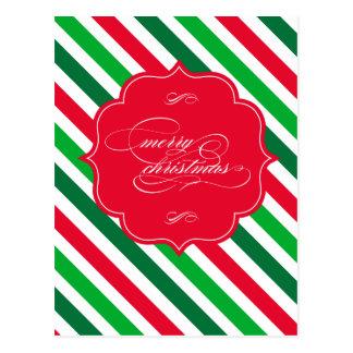 Happy Holidays Stripes Postcard