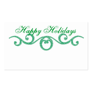 Happy Holidays Swirl Gift Tags Business Card