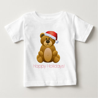 Happy Holidays Teddy Bear Baby T-Shirt