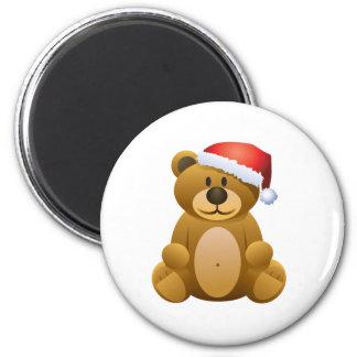Happy Holidays Teddy Bear Fridge Magnet