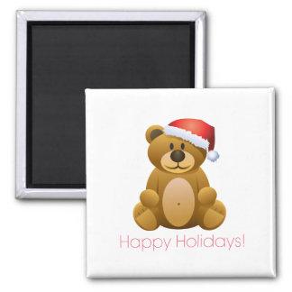 Happy Holidays Teddy Bear Magnets