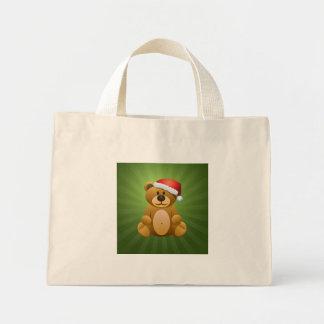Happy Holidays Teddy Bear Tote Bag