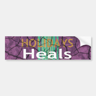 Happy Holidays. Template Car Bumper Sticker