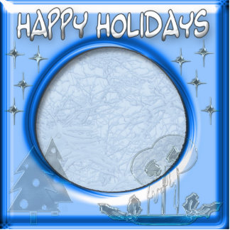 happy holidays template frame statuette