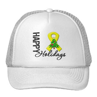 Happy Holidays Testicular Cancer Awareness Trucker Hat