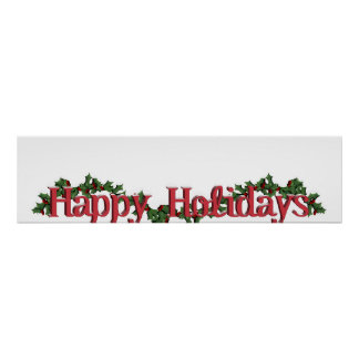 Happy Holidays Text Design Poster