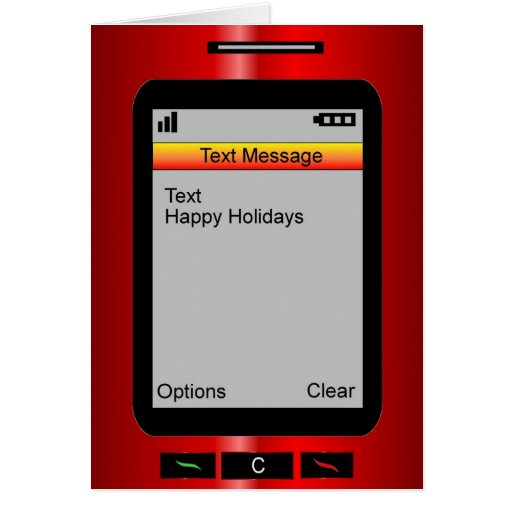 Happy Holidays Text Message Greeting Card