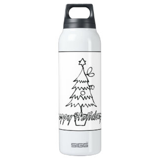 Happy Holidays Thermos Bottle