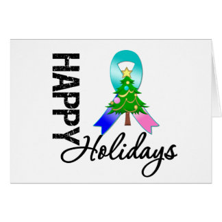 Happy Holidays Thyroid Cancer Awareness Greeting Card