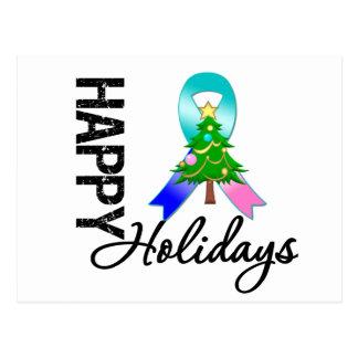 Happy Holidays Thyroid Cancer Awareness Postcard