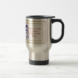 Happy Holidays to customer from business snowman Coffee Mug