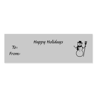 Happy Holidays, To:From:, y Double-Sided Mini Business Cards (Pack Of 20)