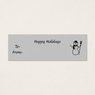 Happy Holidays, To:From:, y Mini Business Card