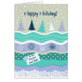 Happy Holidays to my Doctor and Staff, Snowflakes Card