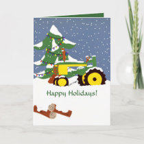 Happy Holidays! Tractor Greeting Card
