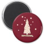 Happy Holidays Tree Fridge Magnet