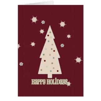 Happy Holidays Tree Greeting Card