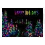 Happy Holidays Tree Lights Card