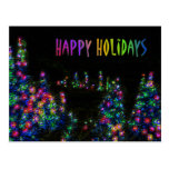 Happy Holidays Tree Lights Postcard