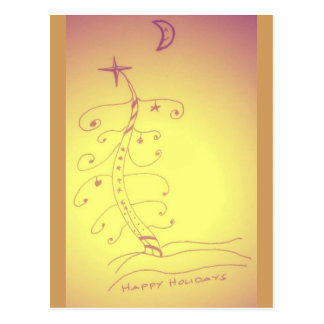 Happy Holidays tree Postcard