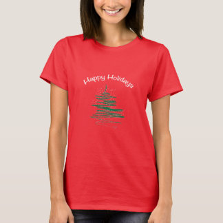 Happy Holidays Tree Snowflakes Women's T-shirts