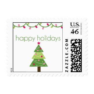 Happy Holidays Tree Stamp