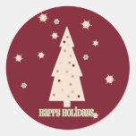 Happy Holidays Tree Stickers