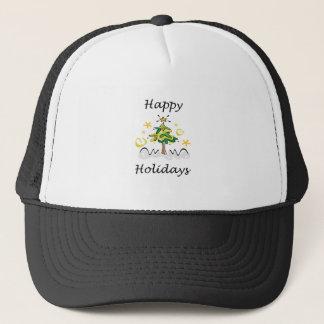 Happy Holidays Tree Trucker Hat