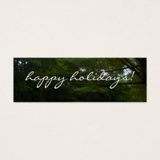 Tropical christmas business cards templates zazzle happy holidays tropical rainforest bamboo mini business card wajeb Image collections