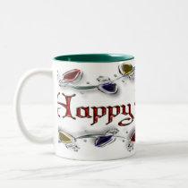 Happy Holidays Two-Tone Coffee Mug